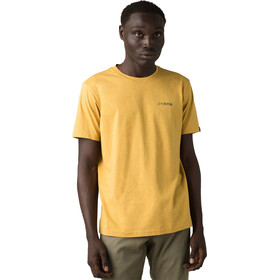 Prana Trail Elmnts T-shirt Heren, marigold heather